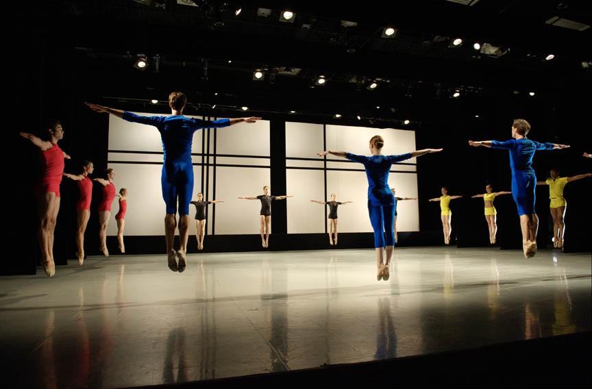 "Richmond Ballet dancers in ""Lines Squared."" - SARAH FERGUSON"