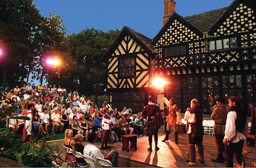 "Richmond Shakespeare performs ""Henry V"" at Agecroft Hall in 2009. - ERIC DOBBS"
