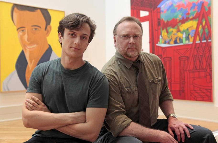 Richmond stage vet David Bridgewater, right, tackles the life of one of America's most well-known artists, Mark Rothko. With New York actor Maxwell Eddy as his assistant, Ken. - JAY PAUL