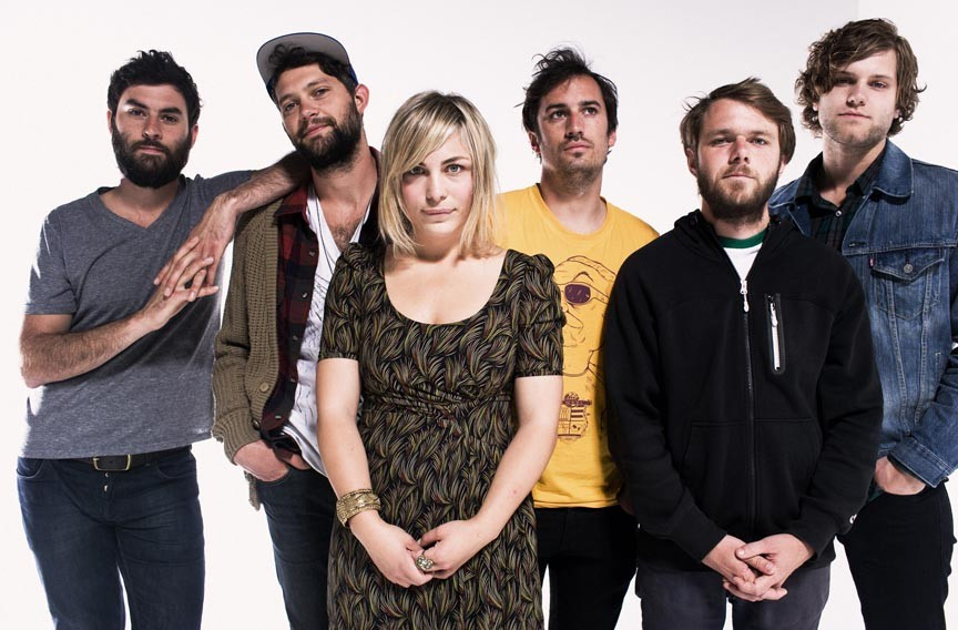 Rivers and roads: The Head and the Heart, with Richmond drummer Tyler Williams, far right, will play the National on March 21.