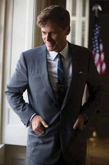 "Rob Lowe as JFK in ""Killing Kennedy."" - NATIONAL GEOGRAPHIC CHANNEL"