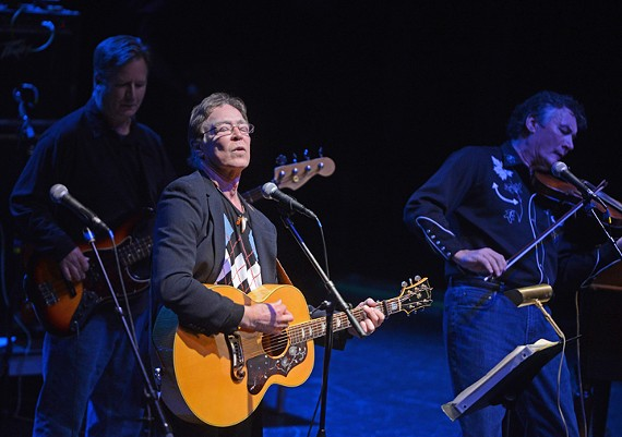 Robbin Thompson performs a song by longtime Richmond musician, Billy Ray Hatley, at the National. - SCOTT ELMQUIST