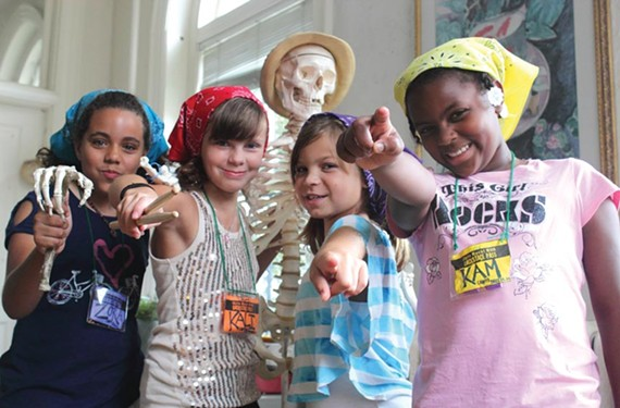 Rockers the Fruit Roll Up Rollers featuring 9-year-old Kyleigh Kyzer (second from right). - CELINA WILLIAMS