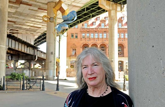 Sally Bowring, chairwoman of the city's Public Art Commission, says the city jail contract will lead to the most money the commission has ever received. - SCOTT ELMQUIST