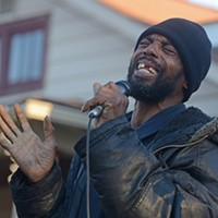Scenes from the Vigil for Randy Smith Jr. Sam Walker sings an impromptu gospel song.