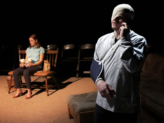 """Sarah (McLean Jesse) and Sam (Nick Aliff) in TheatreLAB's production of """"Grace"""" written by Craig Wright, known for his work on the HBO drama """"Six Feet Under."""""""