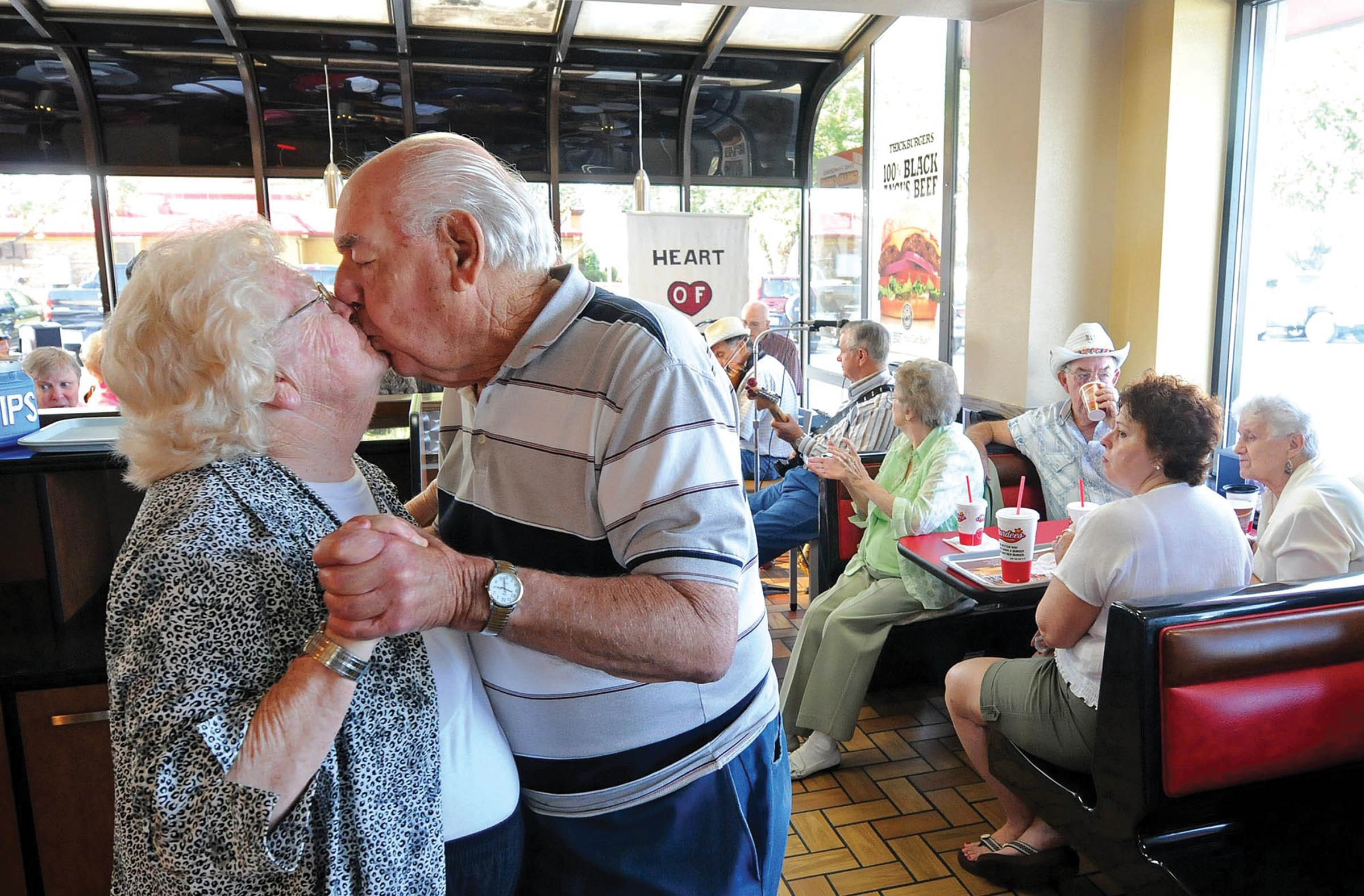 Scott Elmquist's best-in-show photo captured Felix and Pauline Locicero dancing at Hardee's in Chester, where a band plays Wednesday mornings. The couple is in their 66th year of marriage. - SCOTT ELMQUIST