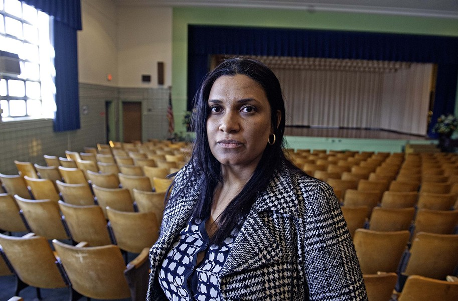 Second District School Board Member Kim Gray says she wants to see the old Moore School restored to its former glory. - SCOTT ELMQUIST