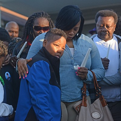 Scenes from the Vigil for Randy Smith Jr.