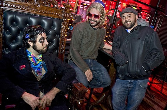Shaun Austin, Derrick Vara and Dan Anderson help promote local Richmond music through their radio comedy show recorded in Ashland. - ASH DANIEL
