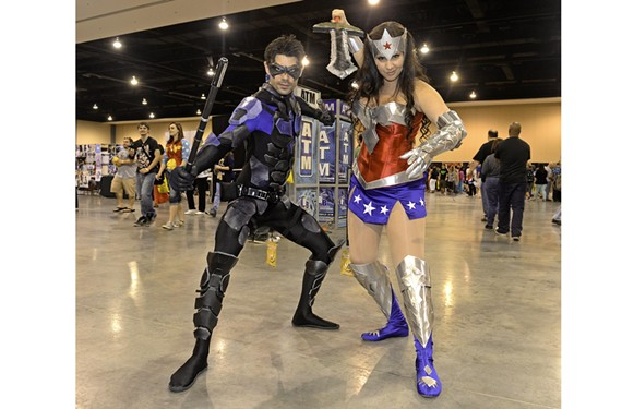 Shawn Webber (Nightwing) of Baltimore and Helene Waldemarson (Wonder Woman) of Boston.