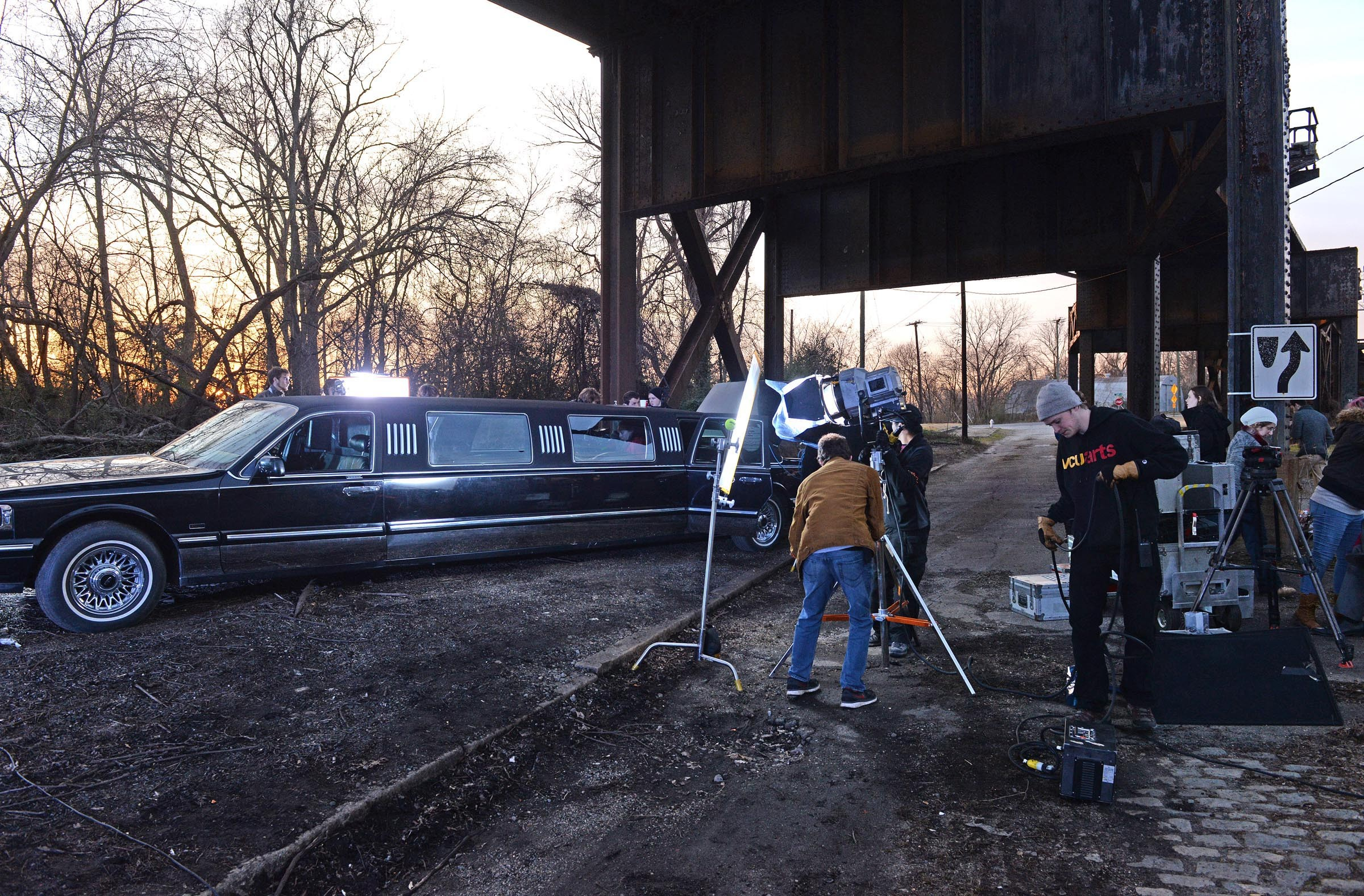 Shot here in Fulton, the movie takes place inside of a 30-foot stretch limo, meant to capture the confining claustrophobia of power that took hold of Macbeth. - SCOTT ELMQUIST