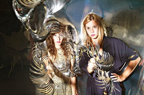 Sisters Taraka and Nimai Larson comprise the psych-dance band Prince Rama, which has recorded with members of Animal Collective and Ariel Pink's Haunted Graffiti.
