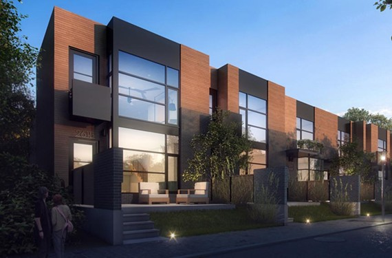 "Six modern row houses, starting at $550,000, are slated for construction in the Fan. Developer Bill Chapman says he wants to build something ""that future generations will see as representative of fine architecture from the early 21st century."""