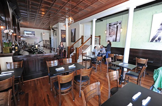 Southern food comes to Mint in the Fan, now serving daily, with a Rams burger one of its menu surprises. - SCOTT ELMQUIST