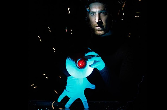 "St. John Cowcher will handle the puppet master role in ""The Adventures of Alvin Sputnik: Deep Sea Explorer,"" operating lights with his feet, puppets with his hands and other effects with a Nintendo Wii controller."