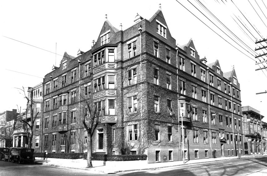 St. Luke's Hospital anchored the corner of Grace and Harrison from 1899 to 1975 when it was torn down for a grocery store parking lot. - VALENTINE RICHMOND HISTORY CENTER