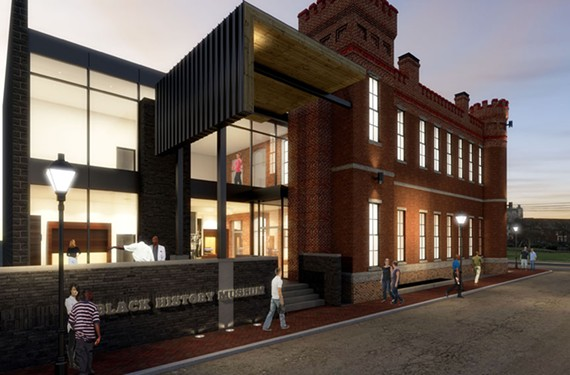 "Stacy Burrs says the new museum space for the Black History Museum and Cultural Center at the Leigh Street Armory, as shown in artistic renderings, will position it to place the past in context of today's issues for the community: ""What we need to be about, as much as preservation and presentation of artifacts and old stories, is how do we become a part of the solution that heals the world?"" - THE BLACK HISTORY MUSEUM AND CULTURAL CENTER OF VIRGINIA/3DI DIGITAL DESIGN GROUP"