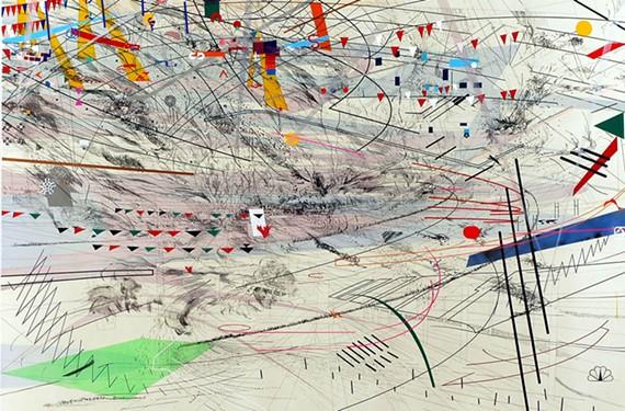 """""""Stadia III"""" by Julie Mehretu."""