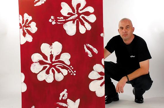 Stephen Murmer holds one of his creations. - SCOTT ELMQUIST