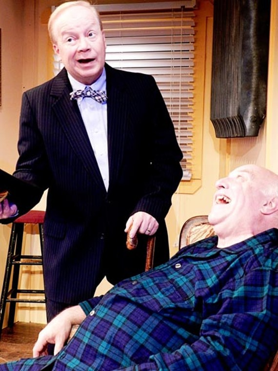 Steve King (left) as Al Lewis and John Hagadown as Willie Clark come off as longtime acting partners in a comedy from legendary playwright Neil Simon.