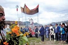 Stills from a saint procession video shot in Metlatónoc.