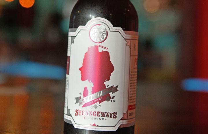 Strangeways Brewing Portia Raspberry Wild Sour Ale.