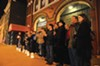 "Supporters of Carol Piersol line the Firehouse Theatre in a silent protest last week during the opening of ""Zhe: [noun] Undefined."" The traveling show wasn't produced by Firehouse."