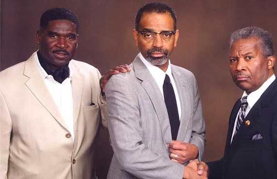 "Ted Moody, Toney Cobb and Tony Cosby co-star in ""The Meeting,"" a play that shows a fictitious conversation between Martin Luther King Jr. and Malcolm X."