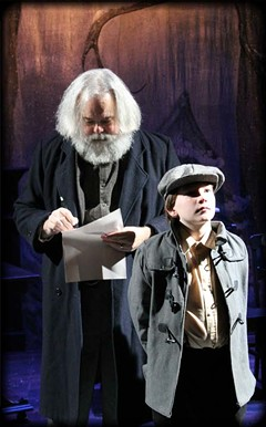 Tell us, Dylan: John Porter plays Welsh poet Dylan Thomas with David Millman as his younger self in this elemental adaptation of his beloved essay. - DENISE TORMEY PHOTOGRAPHY