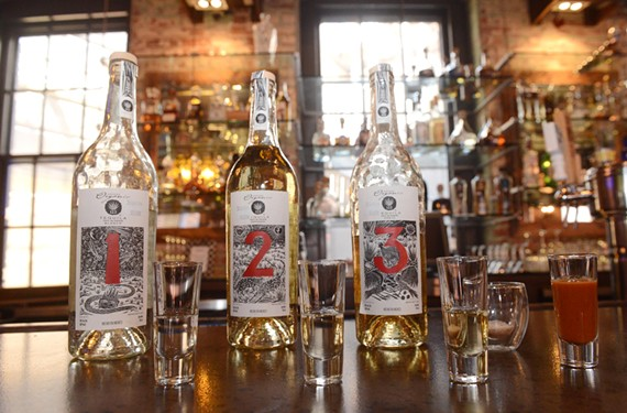 Tequila flights, such as the organic 123, are featured spirits at Casa del Barco in Shockoe. - SCOTT ELMQUIST