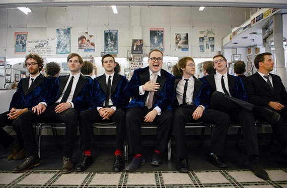 "The Alabama-based seven-piece St. Paul and the Broken Bones is buoyed by the soulful vocals of Paul Janeway, seated in the middle, and touring behind its first full length, ""Half the City"" from Single Lock Records."