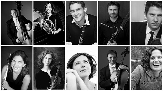 The Atlantic Chamber Ensemble is ready to rewrite the rules. Top row: Fred Dole (double bass), Debra Fialek (horn), Ralph Skiano (clarinet), Martin Gordon (bassoon), Ross Winter (violin). Bottom row: Ann Choomack (flute), Susanna Klein (violin), Maria Yefimova (piano), Jason McComb (cello) and Kimberly Sparr (viola). Not pictured: Shawn Welk (oboe).