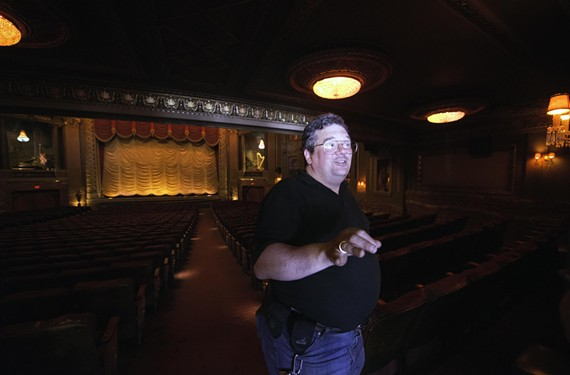 "The Byrd Theatre's manager, Todd Schall-Vess, has been a significant presence for the last 15 years, even though his relationship with the board has been contentious at times. ""I have stayed for so long because I believe in the Byrd and what it represents to the community,"" he says. ""It's a physical manifestation of an ideal, not just a historic building."" - SCOTT ELMQUIST"