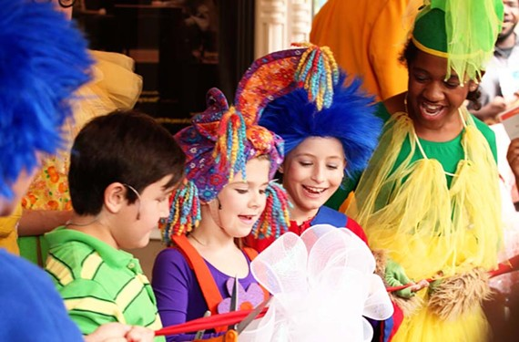 """The cast of """"Seussical"""" celebrates at the announcement of Virginia Rep, the consolidated moniker for a newly combined Barksdale Theater and Theatre IV. """"A lot is changing but a lot is staying the same,"""" says the company's associate artistic director, Chase Kniffen. - ROBYN O'NEILL"""