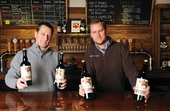 The co-owners of Hardywood Park Craft Brewery, Eric McKay and Patrick Murtaugh, have created an annual holiday frenzy with their Gingerbread Stout.
