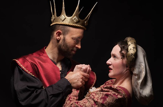 "The ""dark and adept"" Andrew Platner plays the villainous Richard III and Laura Rocklyn is Lady Anne in ""Richard III"" at this summer's Richmond Shakespeare Festival."