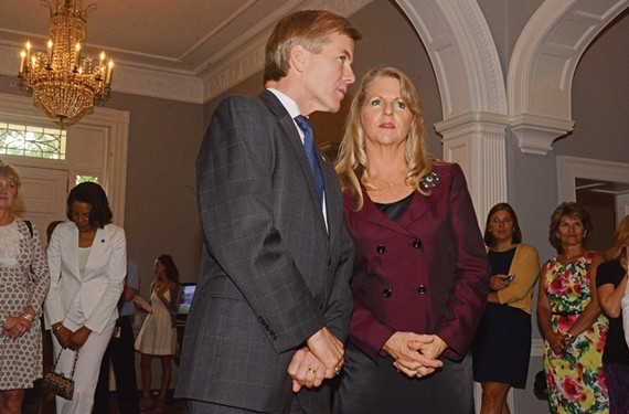 The embattled McDonnells at an Executive Mansion social function. - SCOTT ELMQUIST