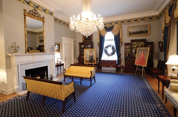 The Executive Mansion has seen continuous changes since it was first occupied in 1813. Architect Duncan Lee created the ballroom by combining two back parlors during a 1906 makeover that also added a formal, oval, dining room to the rear of the house (below). - SCOTT ELMQUIST