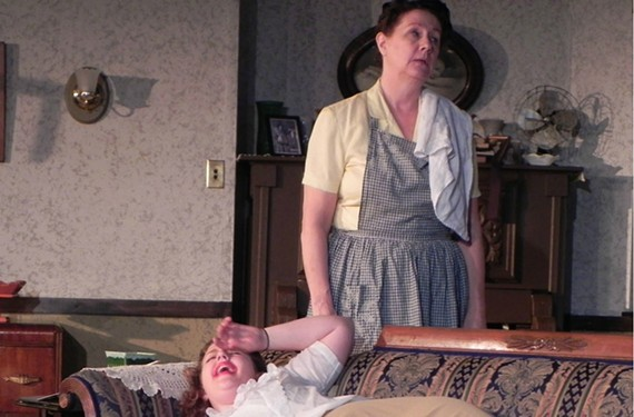 """The fire inside: Heather Yarbrough plays Susanna and Rebekah Spence is Nettie in the inspirational """"Home Fires."""" - JACK HEIFNER"""