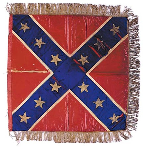 The flag sewn by Hetty Cary, one of the first versions of the standard that became a Southern icon, is on display at the Museum of the Confederacy. - THE MUSEUM OF THE CONFEDERACY