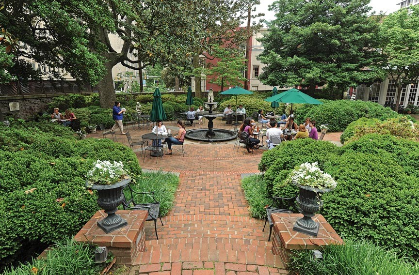The garden at the Valentine Richmond History Center's Wickham House is well known, especially for skylarking lunchers. A new tour of Court End gardens will showcase it and some lesser known horticultural refuge. - SCOTT ELMQUIST