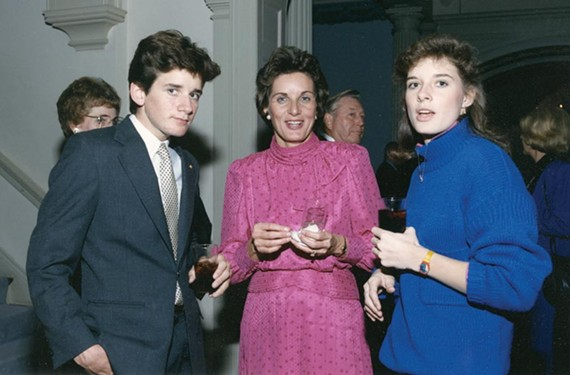 The Gerald Baliles family — first lady Jeannie and children Jonathan and Laura — lived in the mansion during a 1980s restoration that changed the exterior to its1830 appearance. Jonathan Baliles is currently serves on Richmond City Council. - LIBRARY OF VIRGINIA