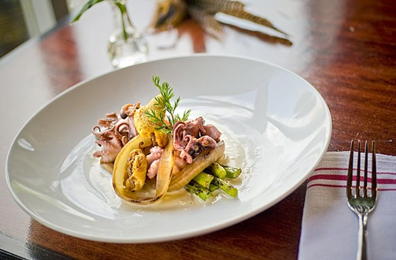 The grilled baby octopus at the Magpie in Carver was one of the year's most delectable new dishes. - SCOTT ELMQUIST