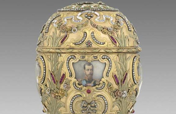 """The """"Imperial Peter the Great Easter Egg"""" (1903), commissioned to mark the bicentennial of St. Petersburg, was acquired by Virginia Museum of Fine Arts benefactor Lillian Pratt from Alexander and Ray Schaffer in the 1930s. Today, Mark Schaffer (below) is a director at A La Vieille Russie, which his family still owns. - THE VIRGINIA MUSEUM OF FINE ARTS"""