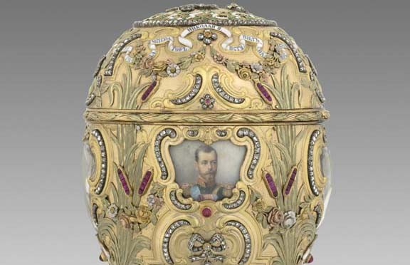 "The ""Imperial Peter the Great Easter Egg"" (1903), commissioned to mark the bicentennial of St. Petersburg, was acquired by Virginia Museum of Fine Arts benefactor Lillian Pratt from Alexander and Ray Schaffer in the 1930s. Today, Mark Schaffer (below) is a director at A La Vieille Russie, which his family still owns. - THE VIRGINIA MUSEUM OF FINE ARTS"