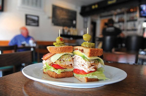 The Jimmy K has smoked turkey with avocado, sprouts, bacon, swiss and Duke's mayo on multigrain bread. It's named for Jimmy Koontz, who owns a body shop near Lunch in Scott's Addition. - SCOTT ELMQUIST