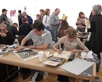 The Monster Drawing Rally at 1708 Gallery