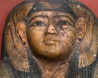 The mummy of Ti-Ameny-Net has endured some wear and tear (not to mention stays in a closet and a professor's living room) since it arrived in Richmond in 1876.