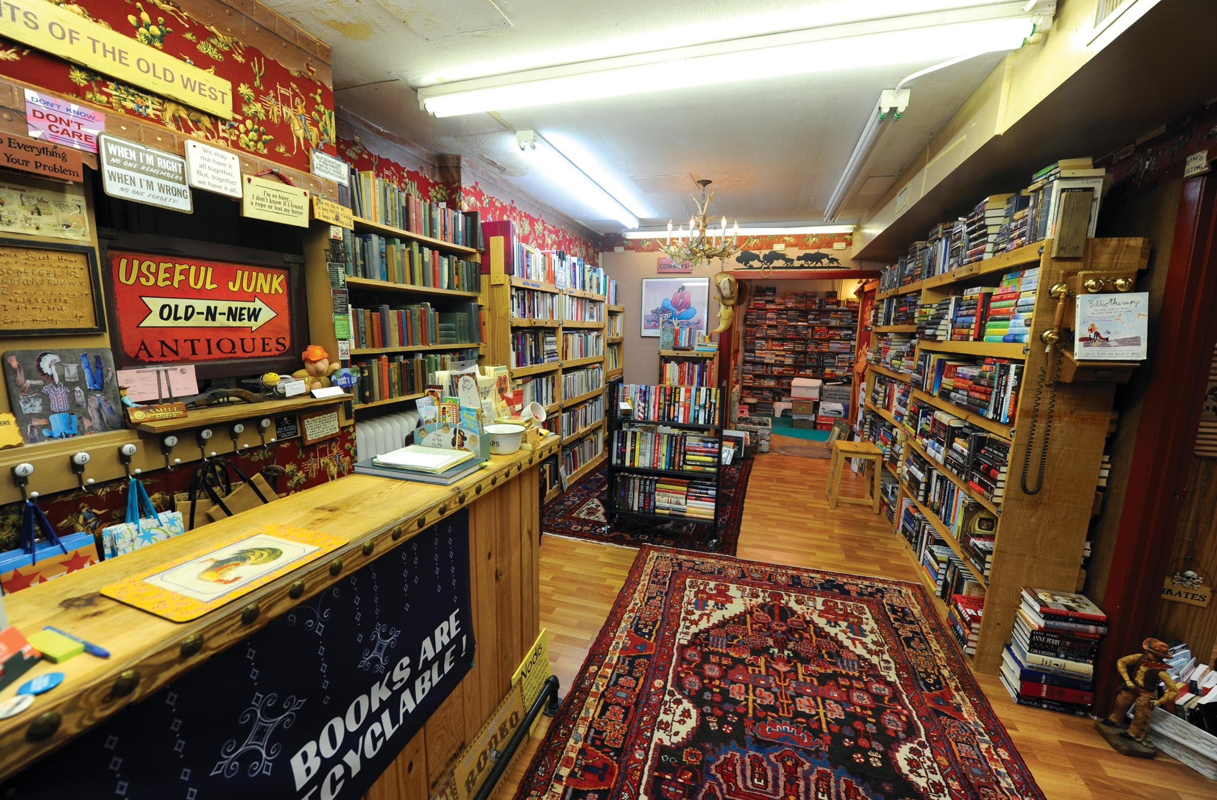 The Old West-themed Tumbleweeds book store off Buford Road in Bon Air. - SCOTT ELMQUIST